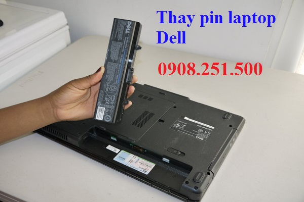 Thay pin laptop dell - 1