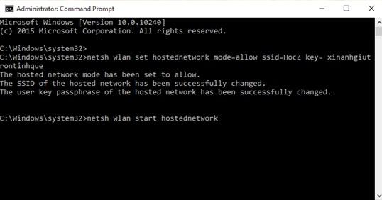 Cách phát wifi trên laptop windows 10 đơn giản - 4