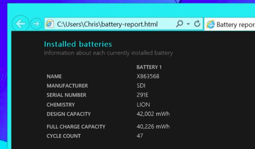 Cách kiêm tra thông tin pin chi tiêt trên laptop windows 10 - 6