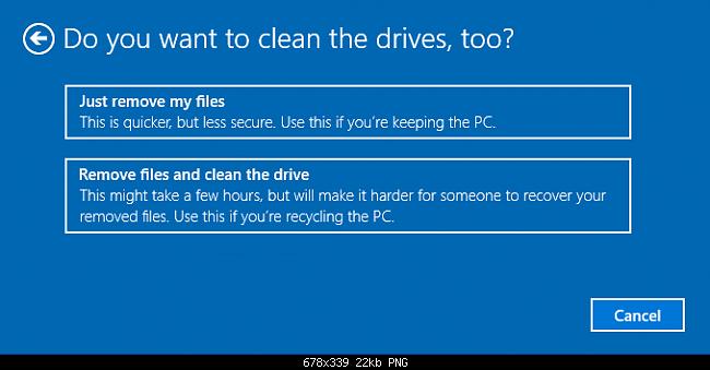 Reset windows 10 khôi phục về ban đầu không cần dùng đĩa - 5