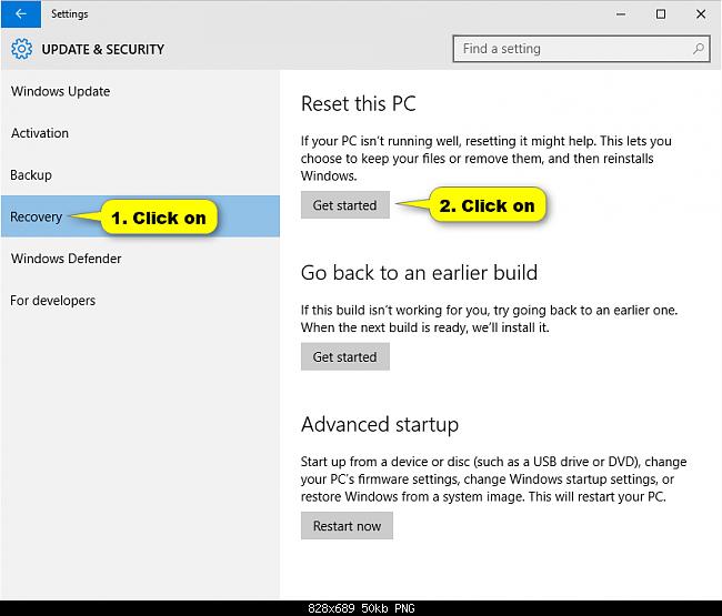 Reset windows 10 khôi phục về ban đầu không cần dùng đĩa - 2