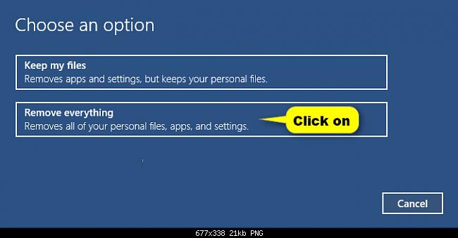 Reset windows 10 khôi phục về ban đầu không cần dùng đĩa - 3