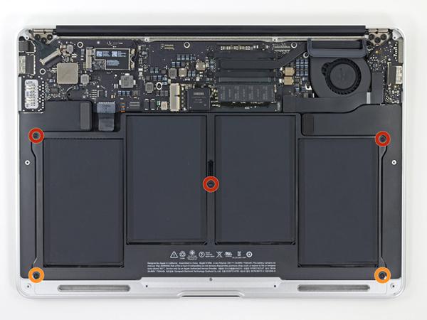 Hướng dẫn cách thay pin cho macbook air 13 inch - 4