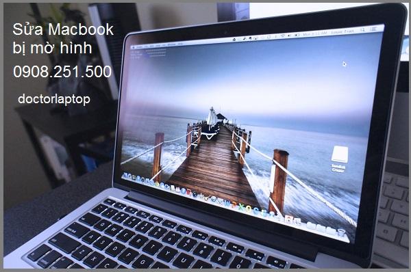 Sửa macbook bị mờ màn hình - 1
