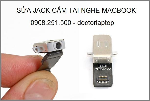 Sửa macbook không nhận jack tai nghe - 2