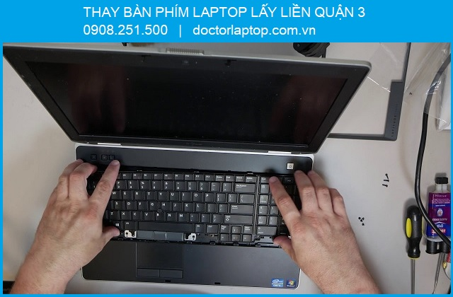 Thay bàn phím laptop ở quận 3 - 4