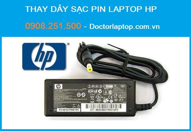Thay dây sạc pin laptop hp - compag - 1