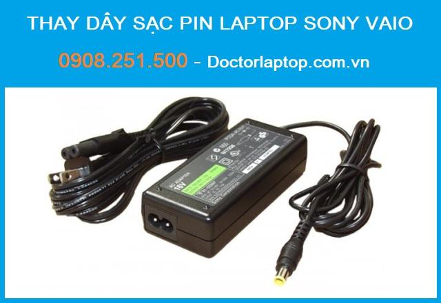 Thay dây sạc pin laptop sony vaio - 1