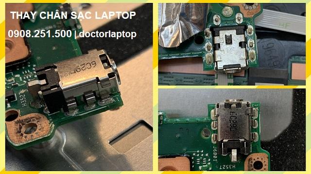 Thay chân sạc laptop - 2