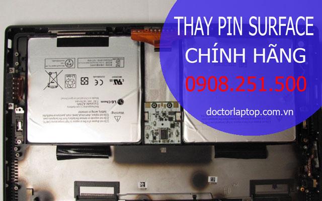Thay pin surface chính hãng - 1
