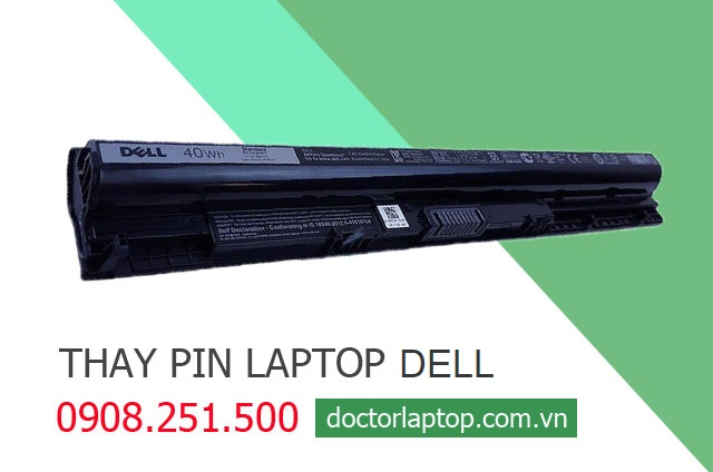 Thay pin laptop dell - 1