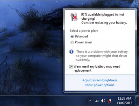 Cách khắc phục lỗi Pin laptop bị dấu gạch chéo (X) màu đỏ