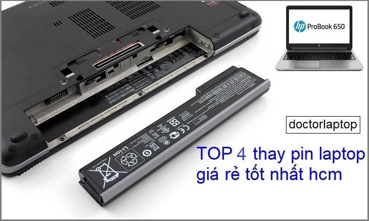 Top 4 địa chỉ thay pin laptop giá rẻ tốt nhất TP HCM