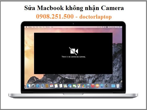 Sửa Macbook không nhận Camera