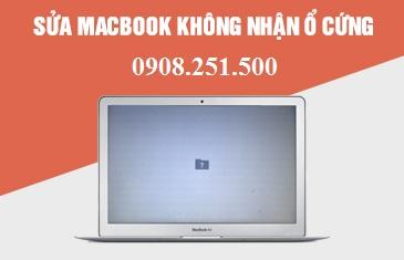 Sửa Macbook không nhận ổ cứng