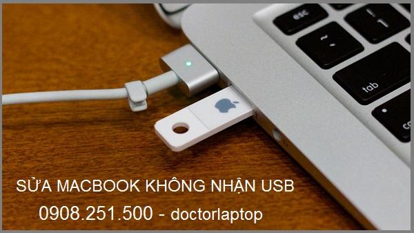 Sửa Macbook không nhận USB