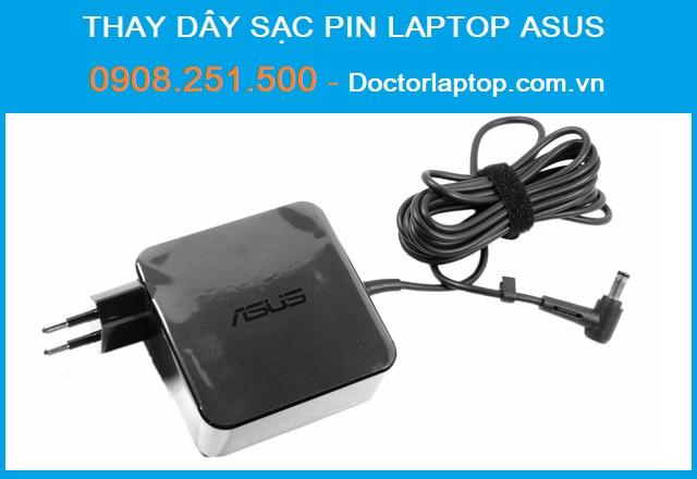 Thay dây sạc pin laptop Asus