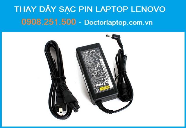 Thay dây sạc pin laptop Lenovo